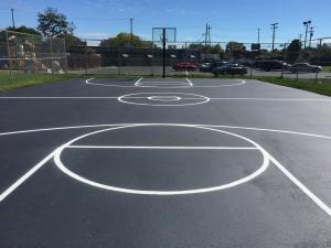 Professional Basketball Court Striping