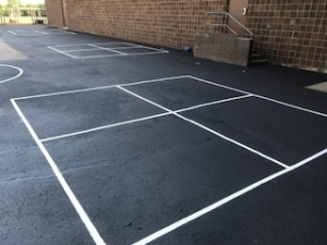 Four Square Striping For School Recess Playground