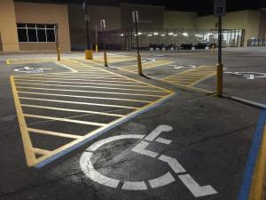 After: New handicap parking paint