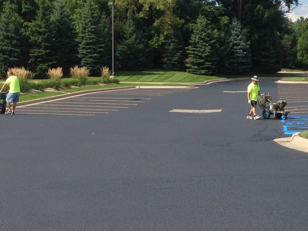 Parking Lot Painting Services Sterling Heights MI - Action Pavement Striping - IMG_1081