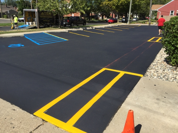 Parking Lot Painting Services Sterling Heights MI - Action Pavement Striping - IMG_2734