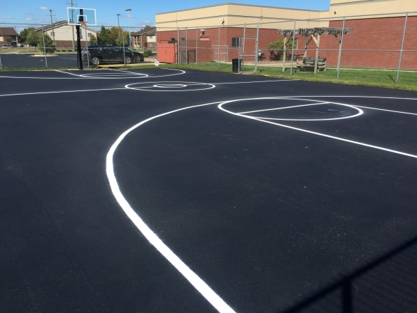 Playground Stenciling Ypsilanti MI - APS - athletic-court-line-painting