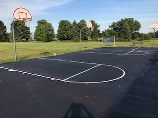 Playground Stenciling Ypsilanti MI - APS - athletic-court-striping