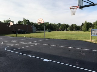 Playground Stenciling Rochester Hills MI : Line Striping - APS - basketball-court-striping