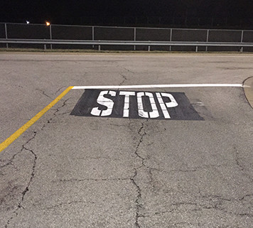 Commercial Striping Services Romulus MI - Action Pavement Striping - road-safety-stop