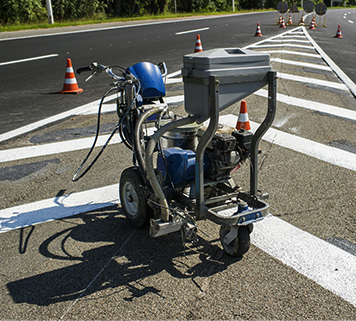 Glass Beading Striping Services Taylor MI - Action Pavement Striping - road