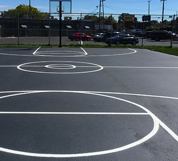 Playground Stenciling Allen Park MI: Recreational Pavement Marking - APS - sport